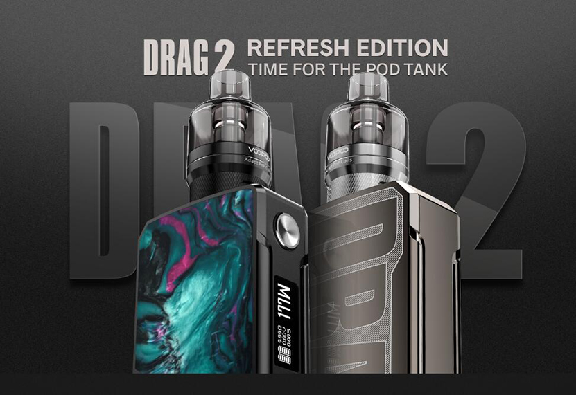 Kit Voopoo Drag 2 Refresh Edition + Pnp Tank